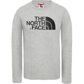The North Face Easy Langarm T-Shirt Jungs tnf light grey heather